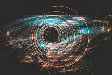 Lightpainting Spirale