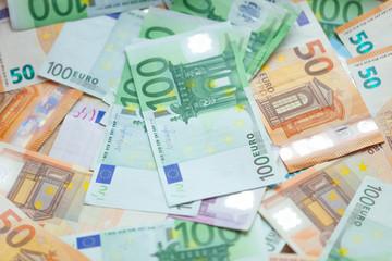 Euro banknotes closeup - Image
