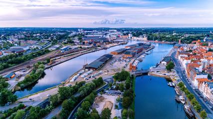 Luftbild Media Docks in Lübeck
