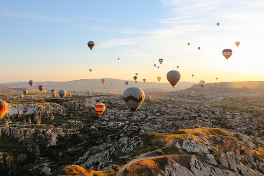 Volando por Capadocia, Turquía