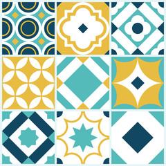 Azulejo seamless tile pattern. Vintage decorative design elements. Vector template.