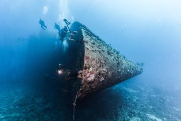 Acrylic Prints Shipwreck Wreck of a ferry, Egypt