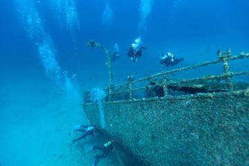 Acrylic Prints Shipwreck Wreck of a Cargo Ship, Vis, Croatia