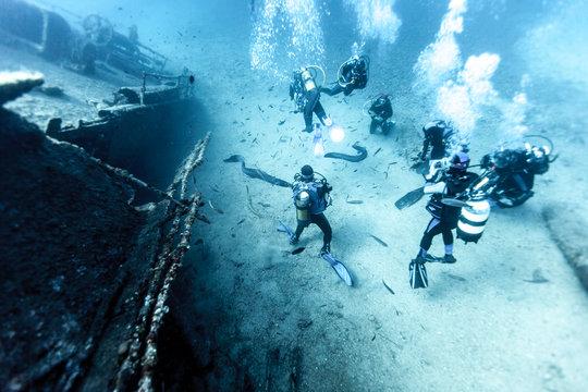 Wreck of a Cargo Ship, Vis, Croatia