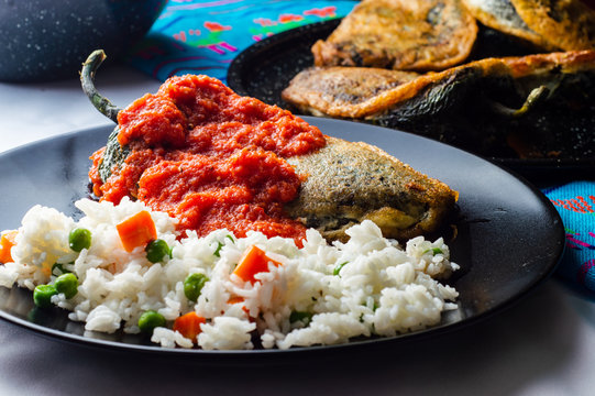 Mexican stuffed chili (Chiles Rellenos)