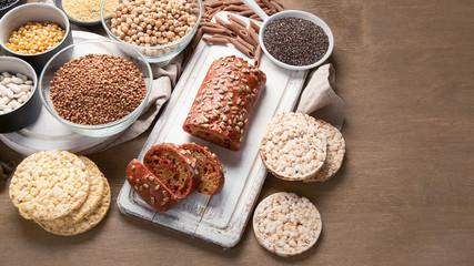 Various gluten free foods Wall mural