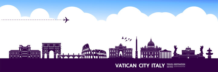 Italy travel destination grand vector illustration. Fototapete