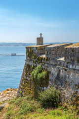 La Coruna, Spain. Fortress wall of the castle of San Anton