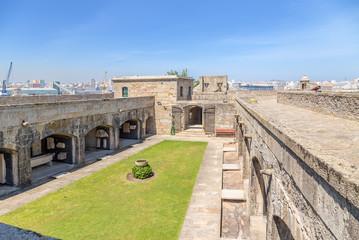 La Coruna, Spain. Courtyard of the castle of San Anton