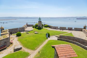 La Coruna, Spain. Fortification of the castle of San Anton