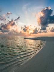 Wall Mural - Sunset at the beach, South Ari Atoll