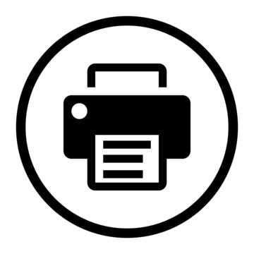 Printer Icon Vector. Office equipment illustration symbol. Fax logo.