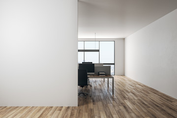 Contemporary office with empty copyspace