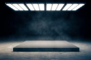 Dark interior with copyspace