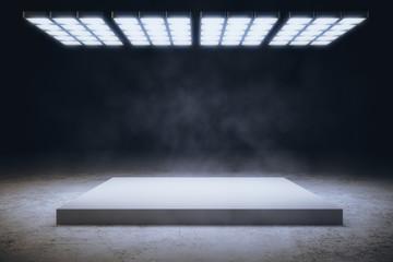 Grey interior with copyspace