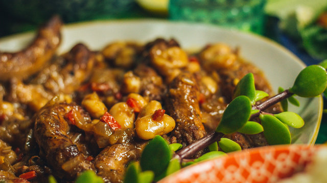 Chicken and Butter Bean Dish with Garnish