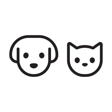 Cat and dog head icon