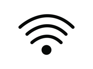 EPS 10 vector. Wi-fi sign on white background.