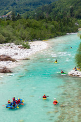 Rafting, Soca in Triglav national park, Slovenia