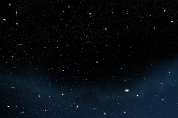 stars in the sky with galaxies and faint nebulae