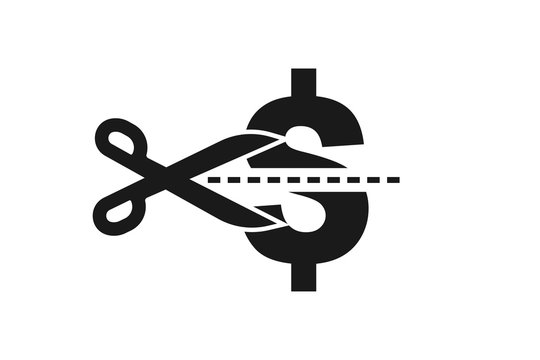 Modern Cost Cutting or reduce Icons, tax reduce icon