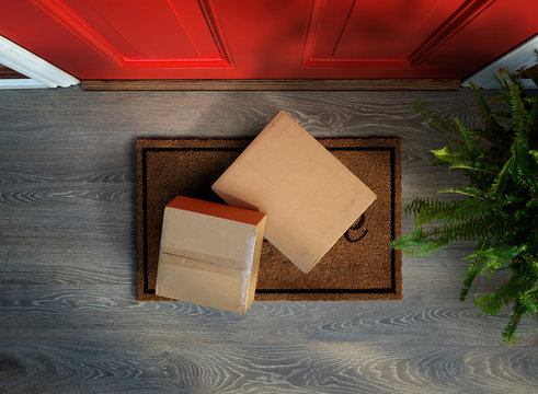 Delivered to the door, online purchases on doormat risk theft. Add your own labels