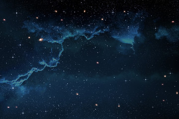 Stars in the Night Sky With Dramatic Nebula