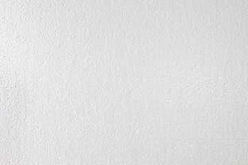 White foam sheet board. Synthetic sponge texture background. Detail of plastic material.