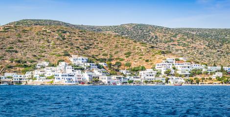 Fotomurales - Amorgos village along the waterfront, Greece.