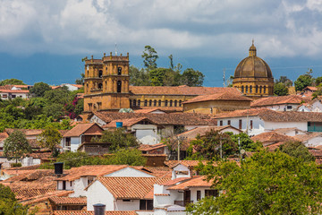 Fototapete - Barichara Skyline Cityscape Santander in Colombia South America