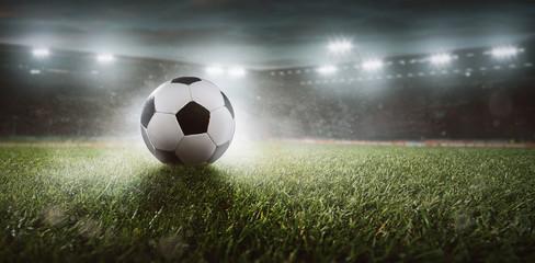 Fussball in einem Stadion