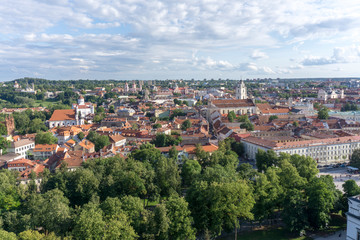 Panoramic view of Vilnius. Lithuania