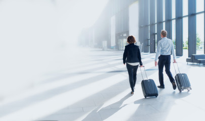 Business trip of two people Wall mural