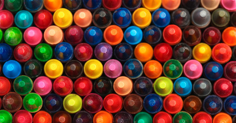 Collection of colorful crayons mixed together Wall mural