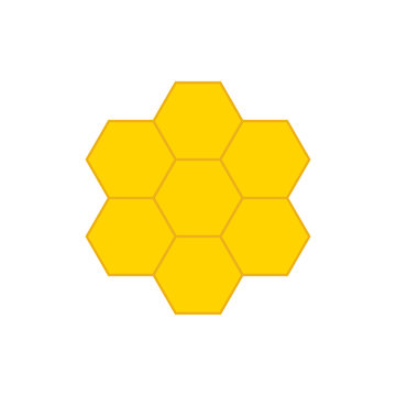 Honeycomb vector icon. Honey. Honeycomb bee