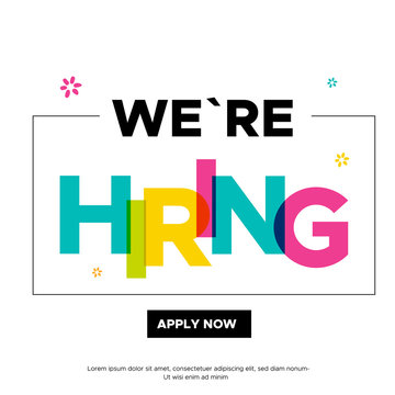 Modern colorful Join Our team banner design. Work poster. Vacancy background. Creative recruitment