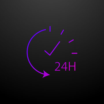 Services 24 hour outline nolan icon. Elements of security set. Simple icon for websites, web design, mobile app, info graphics