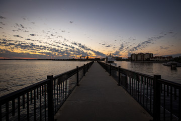 Enjoying the amazing sunset in downtown Pensacola, FL