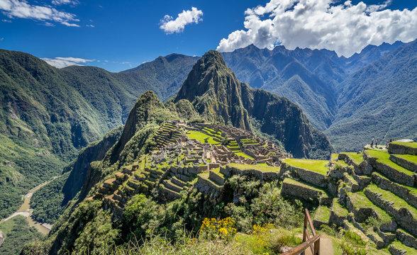 Panorama view of Machu Picchu