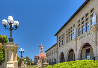 Jordan Hall on the Campus of Stanford University.