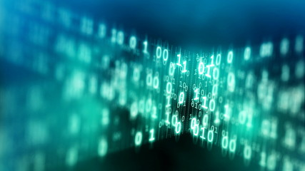 Internet data code concept