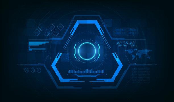 Triangle Futuristic HUD Concept. Sci-Fi Technology Design.vector eps10