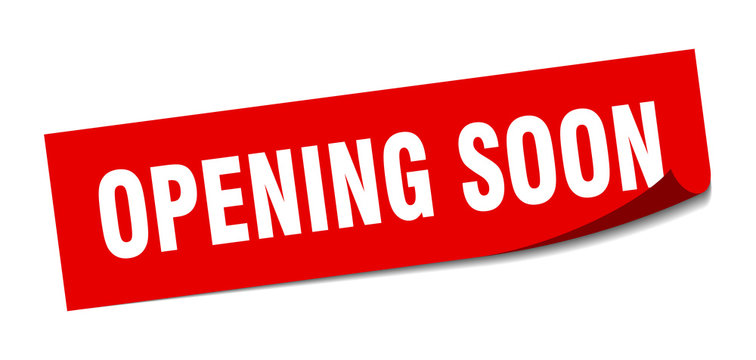 opening soon sticker. opening soon square isolated sign. opening soon