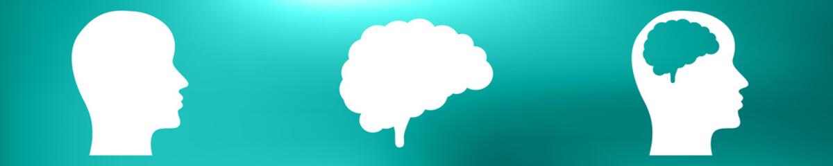 Gehirn Symbol Set