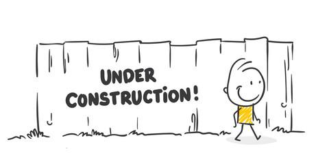 Strichfiguren / Strichmännchen: Under Construction, im Augbau. (Nr. 440)