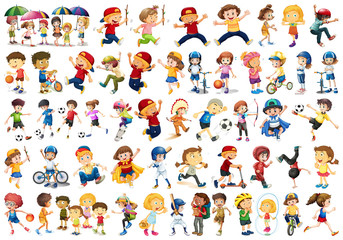 Wall Murals Kids collection of people set