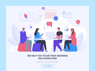 Consulting firm landing page vector template