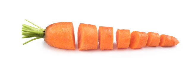 carrot lies on a white background