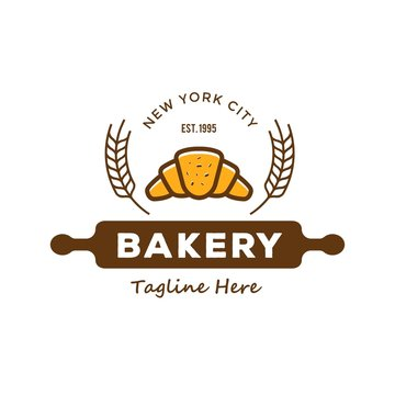 Bakery labels, emblem, badges and design elements, logo vector on white background