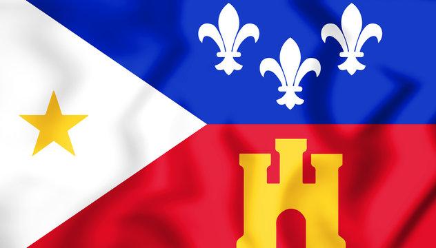 3D Flag of Lafayette (Louisiana), USA